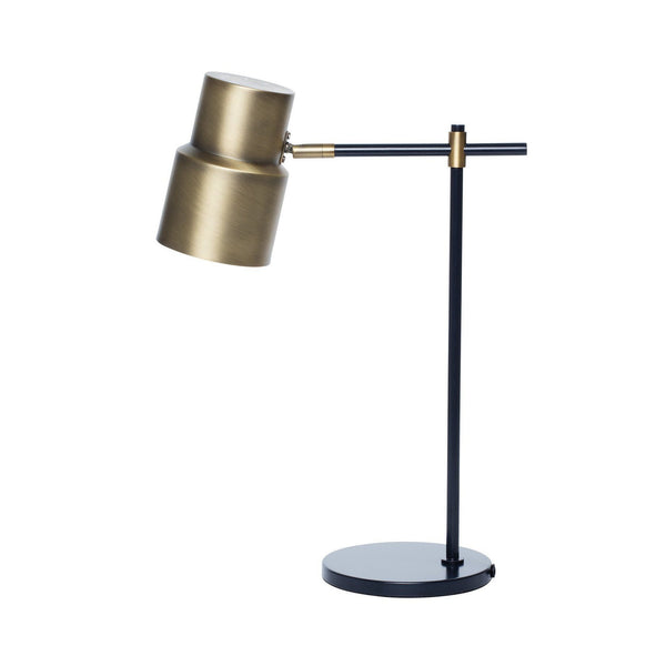 Milk & Sugar | Atticus Table Lamp - Brass / Charcoal | Shut the Front Door