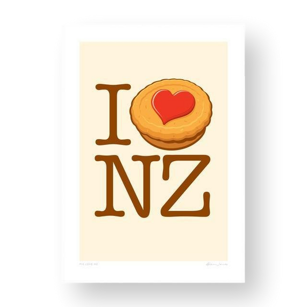 Pie Love NZ Glenn Jones Print Card