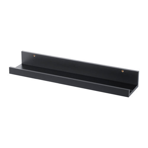 IKEA | Mosslanda Picture Ledge 55cm - Black | Shut the Front Door
