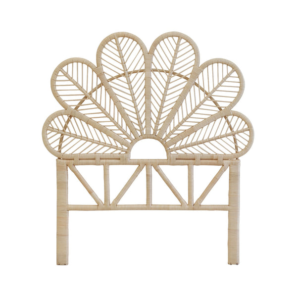 Family Love Tree | Flower Petal Rattan Bed Head NATURAL King Single *PREORDER* | Shut the Front Door
