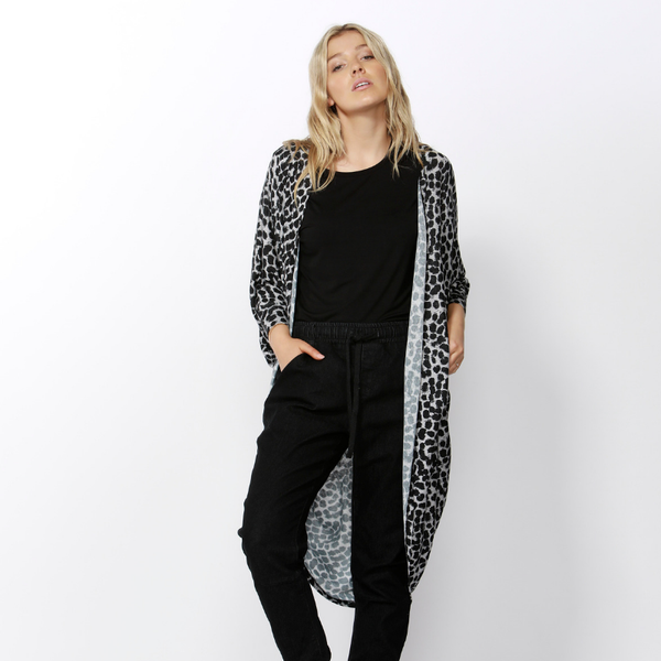 Betty Basics | Santorini Drape Cardigan LEOPARD | Shut the Front Door