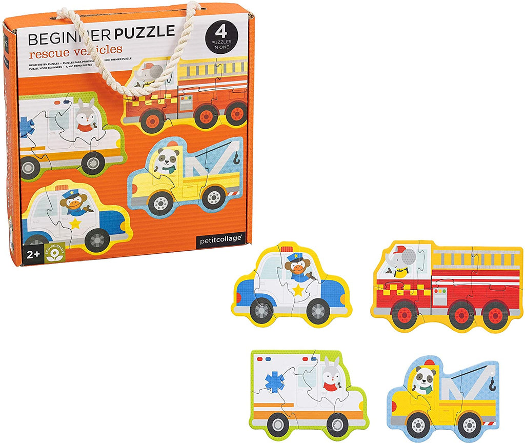 Petit Collage | Rescue Vehicles Beiginner Puzzle | Shut the Front Door