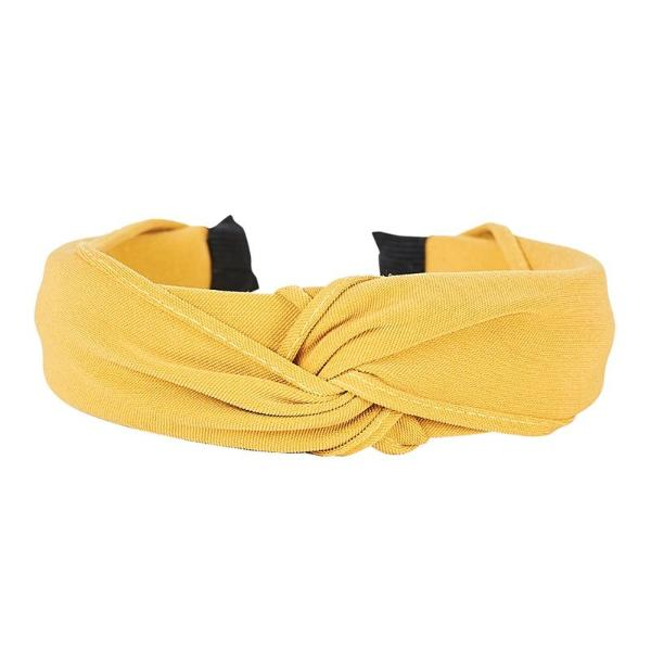 eb & ive | Silos Head Band Mustard | Shut the Front Door