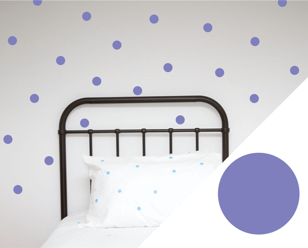 100PercentHeart | Wall Stickers Dots Large Lavender | Shut the Front Door