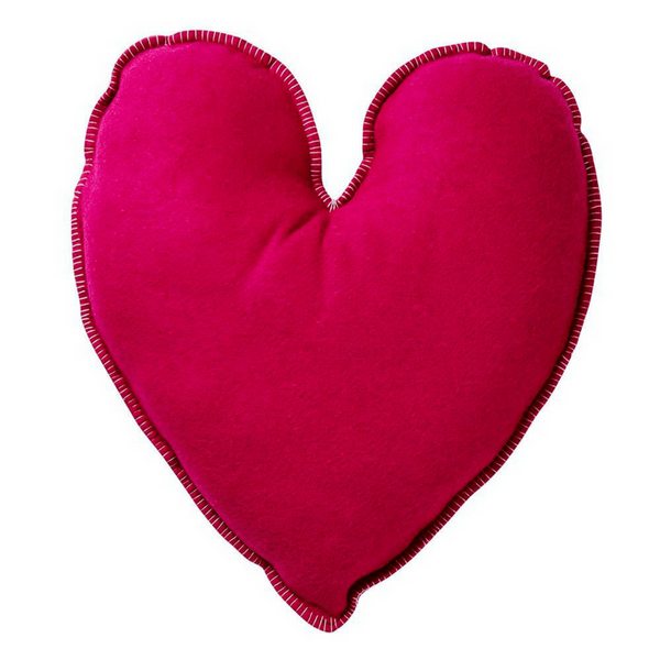 SAGE & CLARE | Vivian Heart Felt Cushion Pink | Shut the Front Door