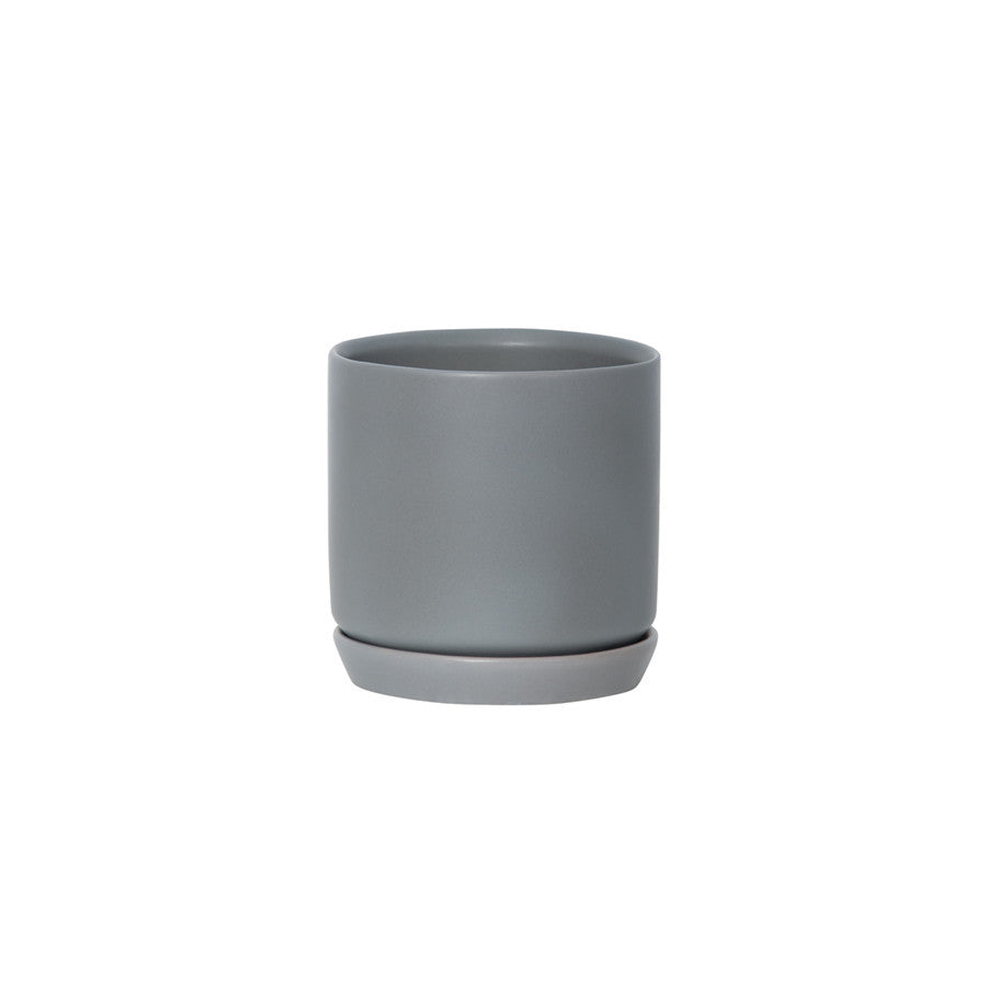 General Eclectic | Oslo Planter Grey Fog Small | Shut the Front Door