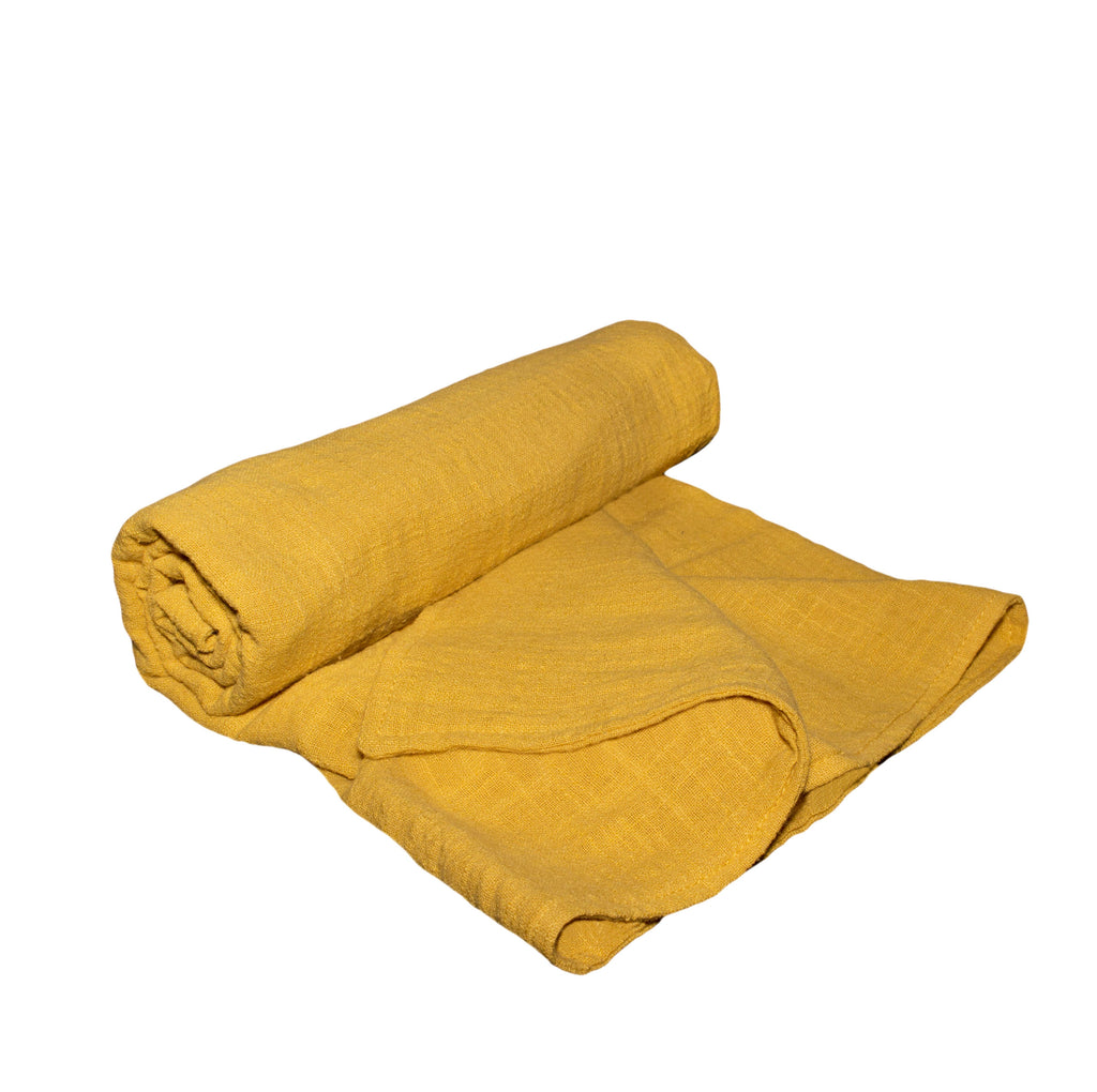 Lily and George | Mustard Muslin Blanket | Shut the Front Door