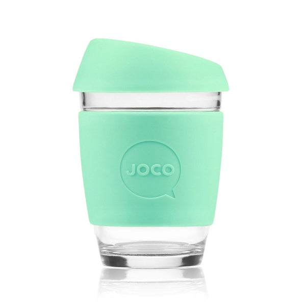 Joco | Reusable Glass Cup Joco 8oz Vintage Green | Shut the Front Door
