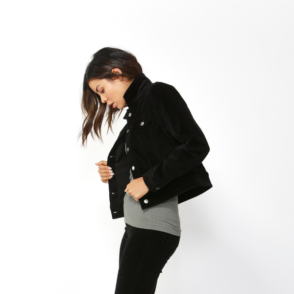Betty Basics | Lewis Corduroy Jacket - Black | Shut the Front Door