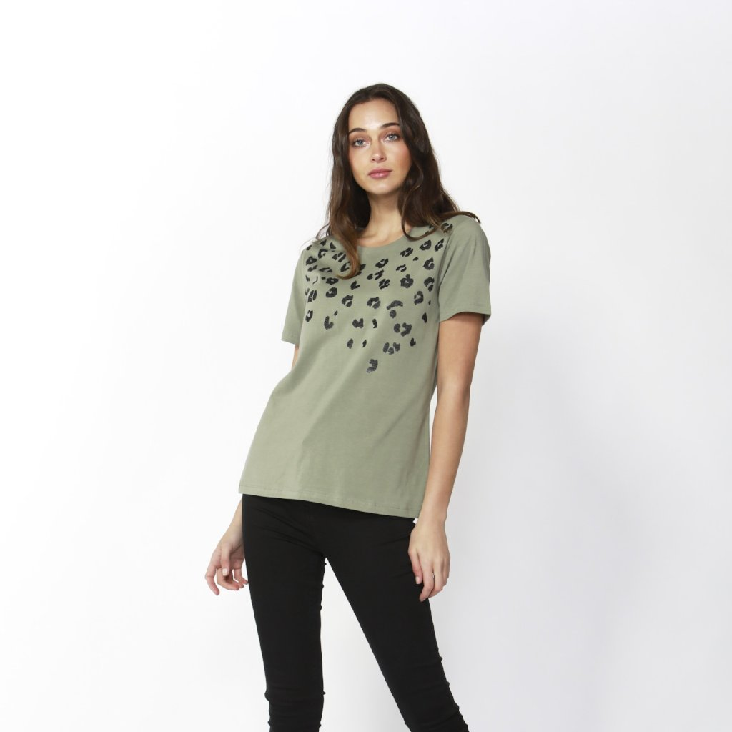 Betty Basics | Cara Tee Sequin Moss | Shut the Front Door