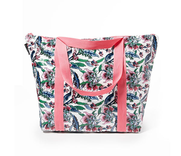 Project Ten | Zip Up Medium Tote Bag - Botanical | Shut the Front Door