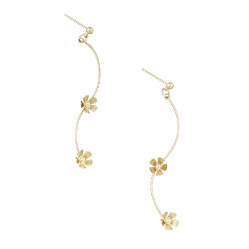 Tiger Tree | Daisy Chain Earrings Gold | Shut the Front Door