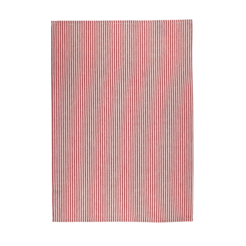 Raine & Humble | Honey Bee Teatowel Terracotta Stripe | Shut the Front Door