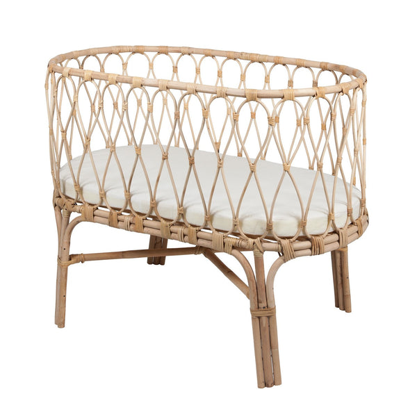 Lily and George | Rattan Bassinet | Shut the Front Door