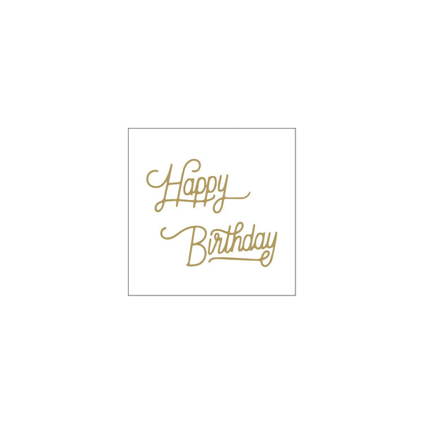 Shut The Front Door | Mini Card Gold Happy Birthday Curly | Shut the Front Door
