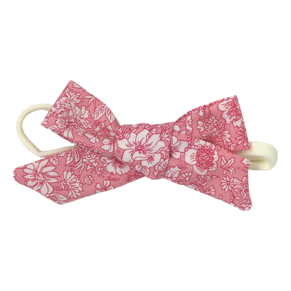 Liberty Baby Bow Headband - Pink Floral