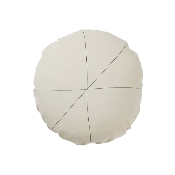 Milk & Sugar | Cushion Cross Round STONE | Shut the Front Door
