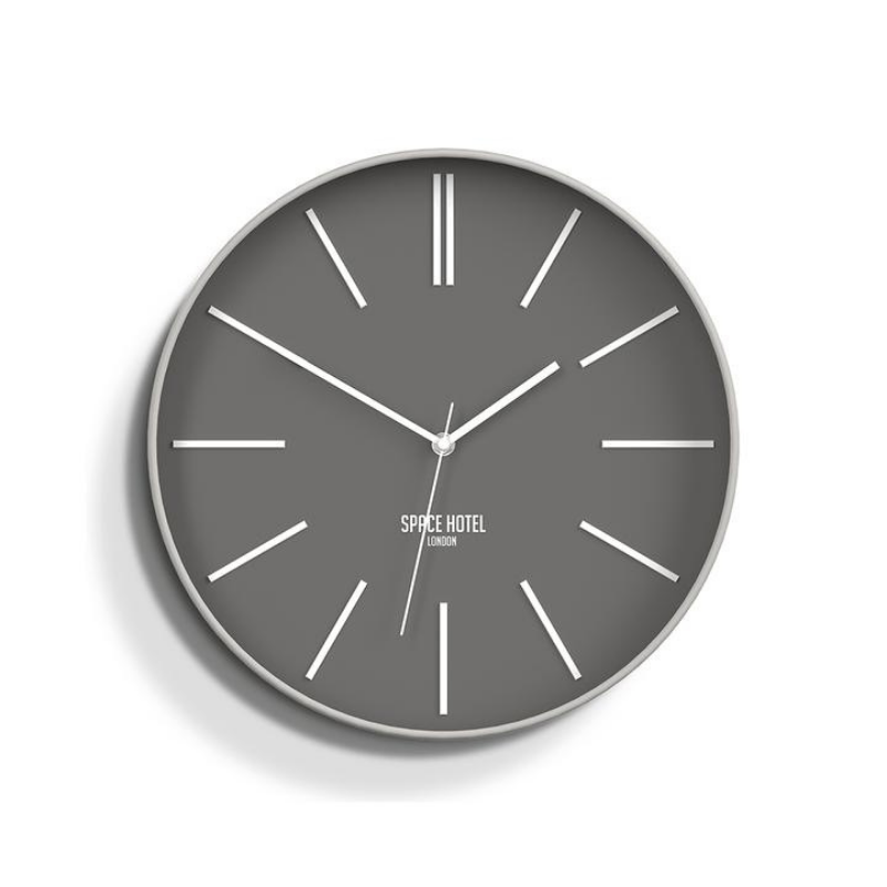 Space Hotel | Si Fi Sid Wall Clock Storm Grey | Shut the Front Door