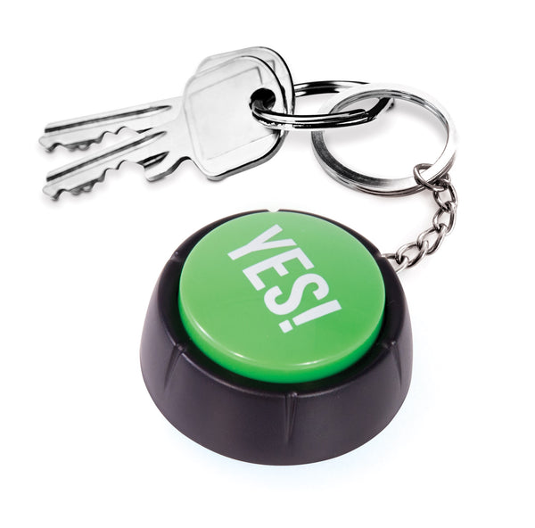 IS Gifts | The Yes! Button Keyring | Shut the Front Door