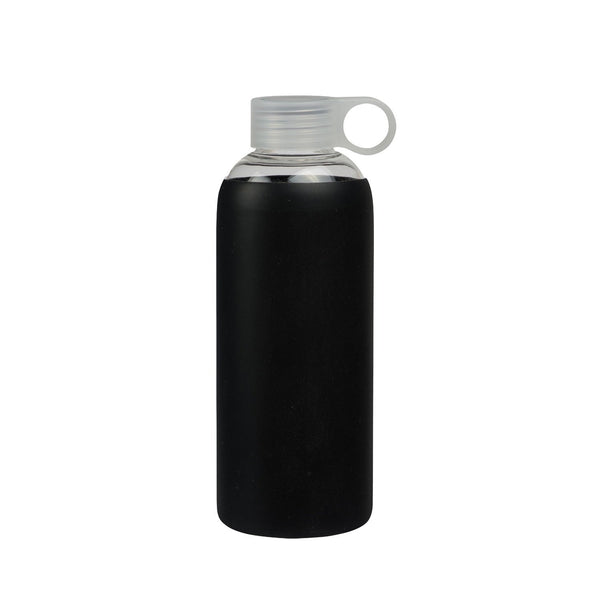 General Eclectic | Glass Drink Bottle - Black - 750ml | Shut the Front Door