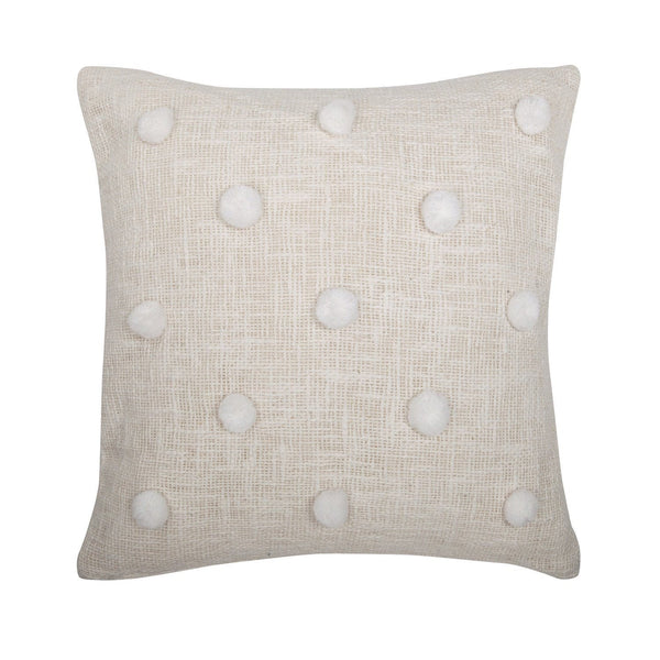 Rose Avenue | Pompom Cushion Natural/White | Shut the Front Door