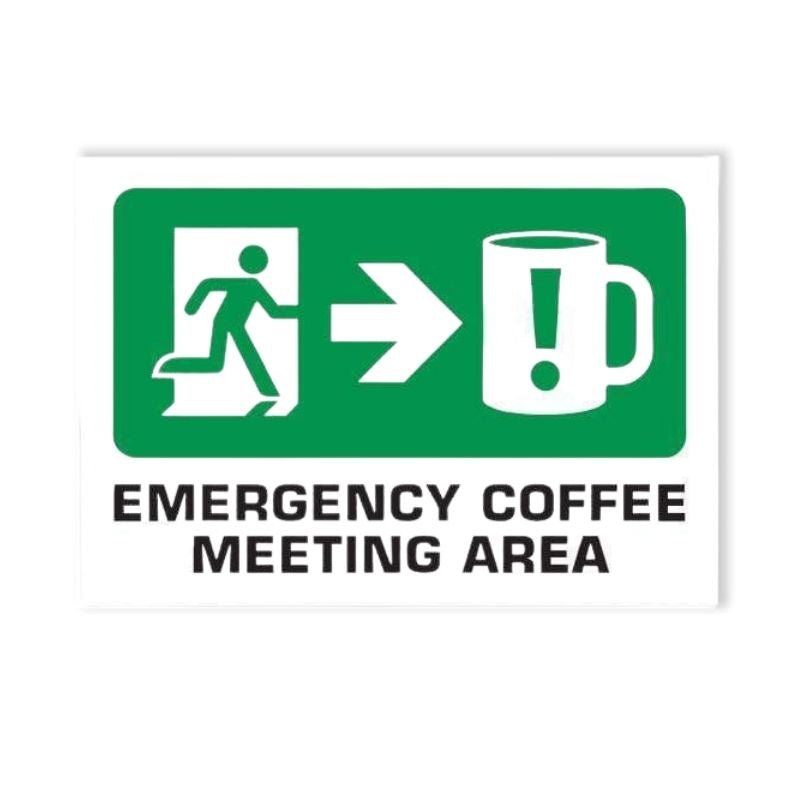 Just Great Design | Emergency Coffee Wooden Sign | Shut the Front Door
