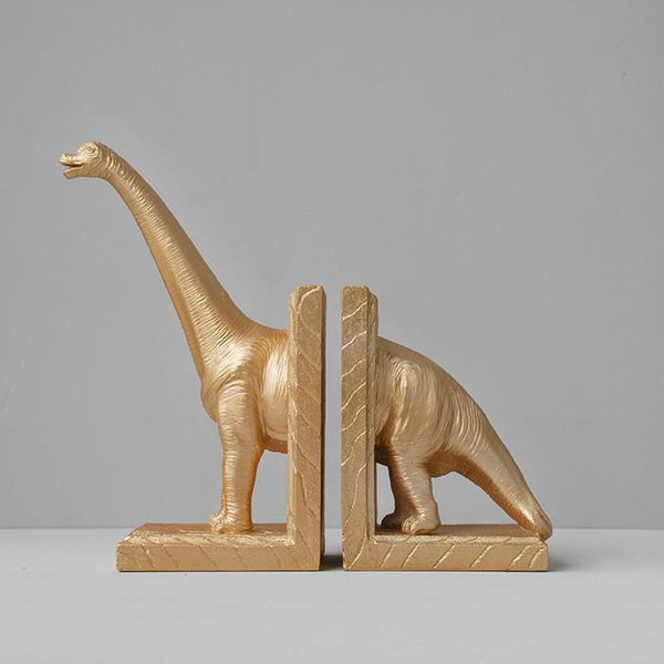 White Moose | Diplodocus Bookends (set) GOLD | Shut the Front Door