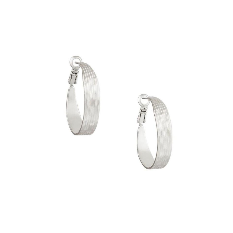 Tiger Tree | Grooved Hoops Silver | Shut the Front Door