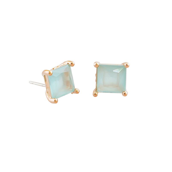 Tiger Tree | Aquamarine Crystal Stud Earrings | Shut the Front Door