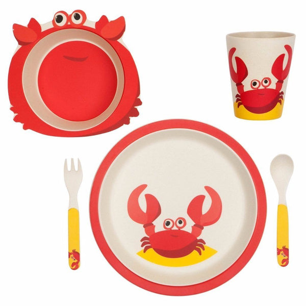 Sunnylife | Eco Kids Meal Set Crabby | Shut the Front Door