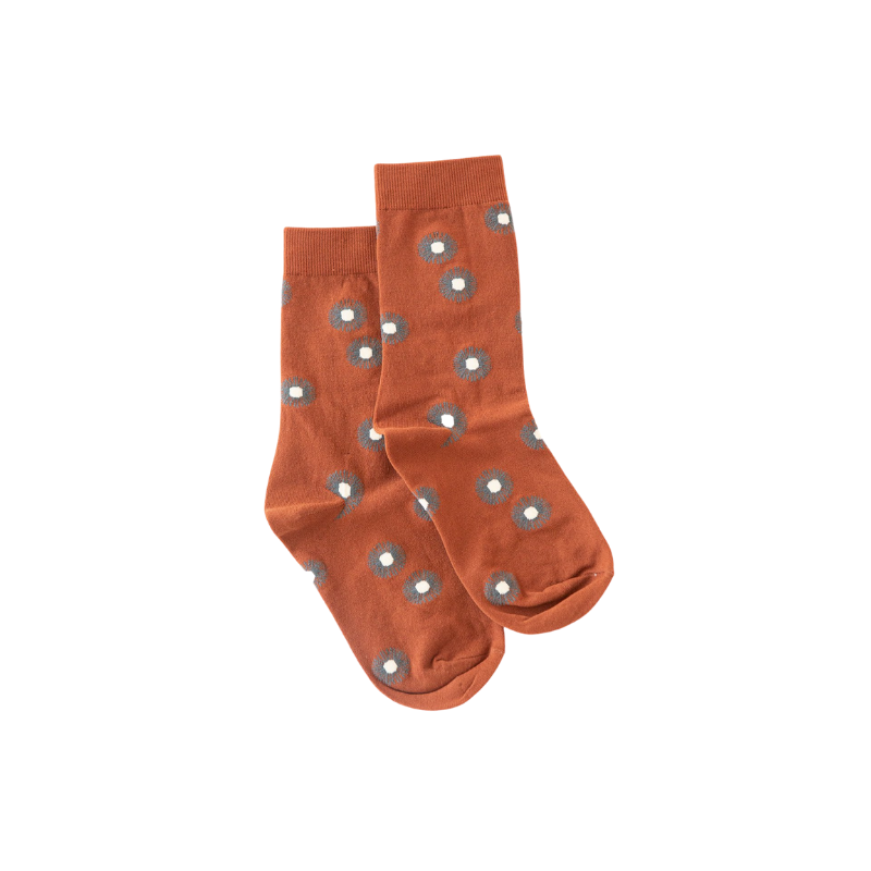 Antler NZ | Flower Sock - Rust & Grey | Shut the Front Door