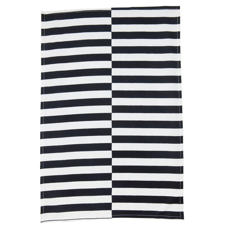 General Eclectic | Tea Towel Black Stripe | Shut the Front Door