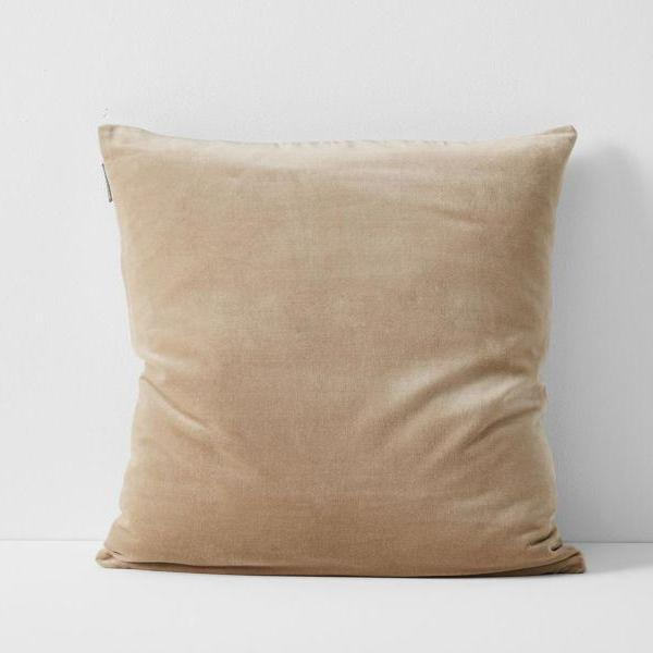 Aura | Aura Lux Velvet Cushion - NUDE | Shut the Front Door