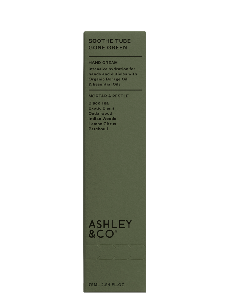 Ashley & Co | Soothe Tube Intensive Hand Hydration - Gone Green Mortar & Pestle | Shut the Front Door