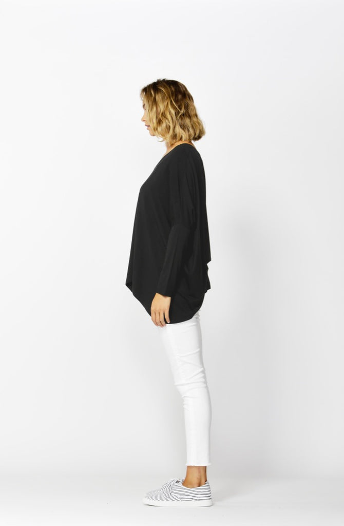 Betty Basics | Geneva V-Neck Top - Black | Shut the Front Door