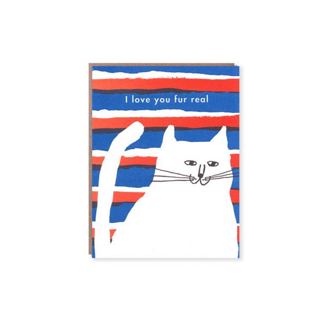 Egg Press | Love You Fur Real Card | Shut the Front Door