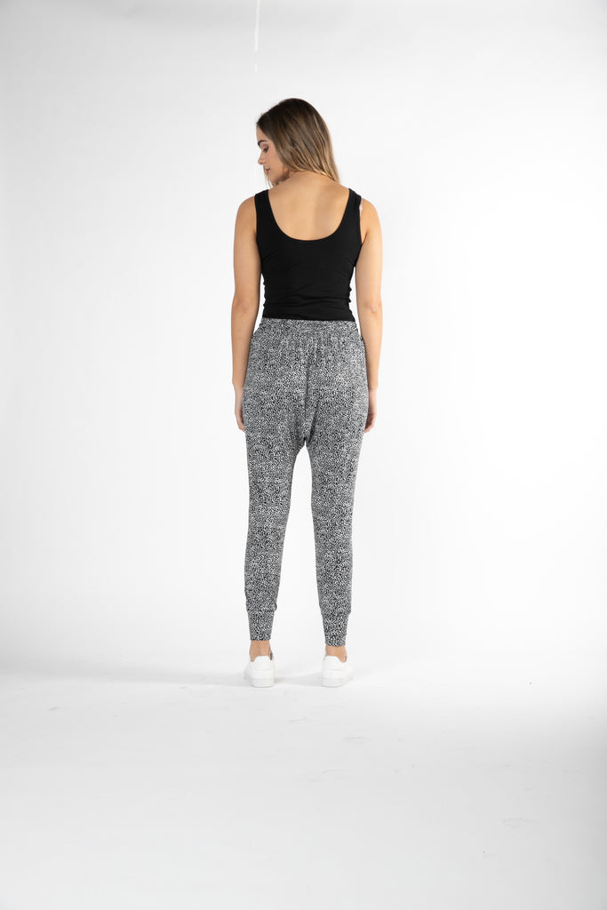 Betty Basics | Barcelona Pant - Black & White Terrain | Shut the Front Door