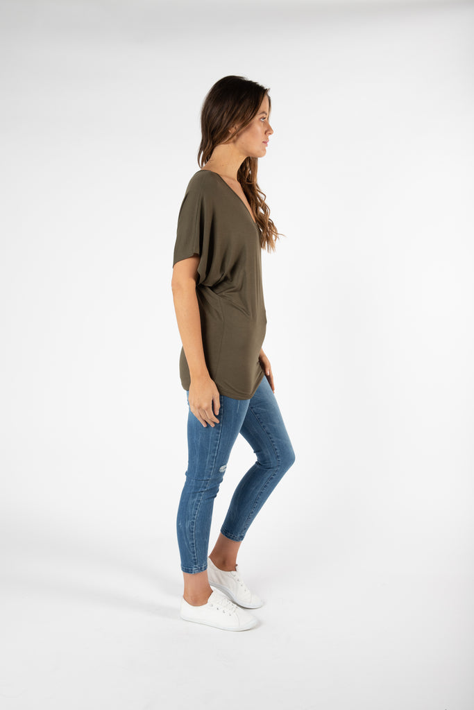 Betty Basics | Maui Tee - Khaki | Shut the Front Door