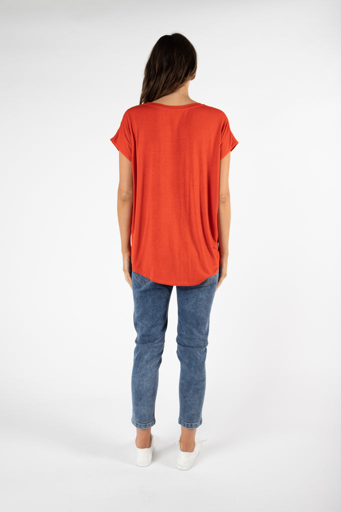 Betty Basics | Toledo Tee - Sunset | Shut the Front Door