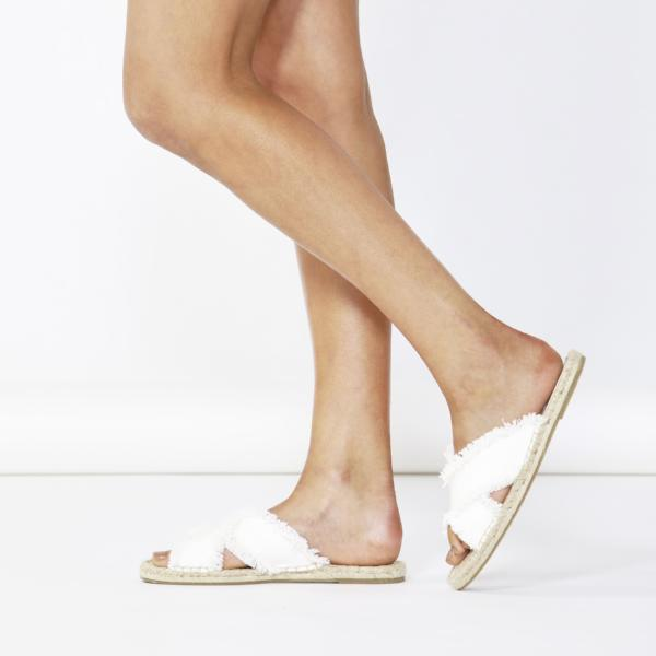 Betty Basics | Seeker Espadrille Slide  - White | Shut the Front Door