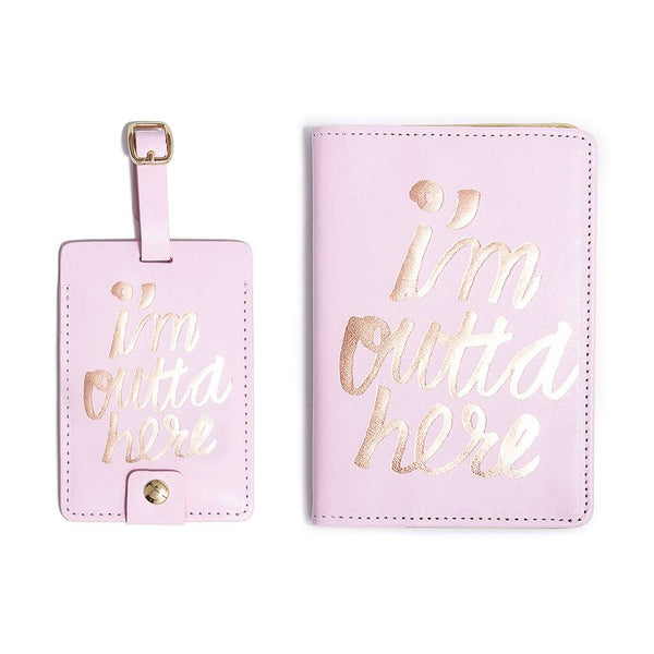 ban.do | I'm Outta Here Luggage Tag *PREORDER* | Shut the Front Door