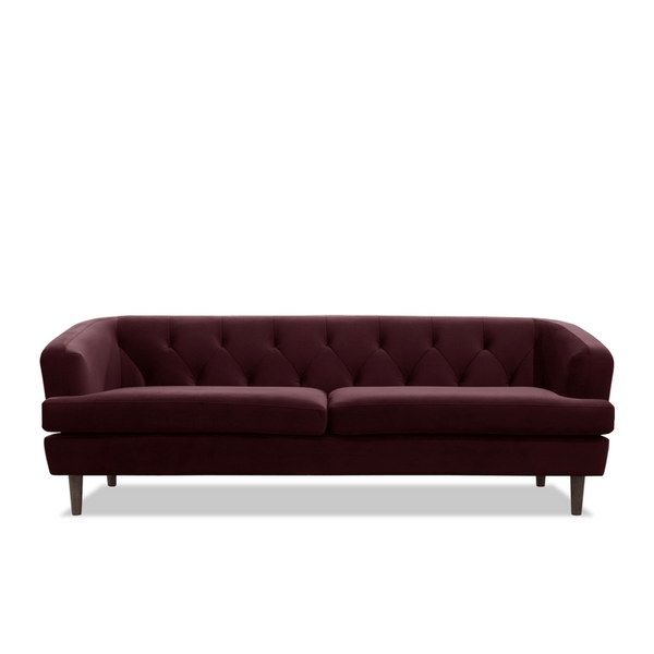 Me & My Trend | Baxter 3 Seat Velvet Sofa - Plum | Shut the Front Door