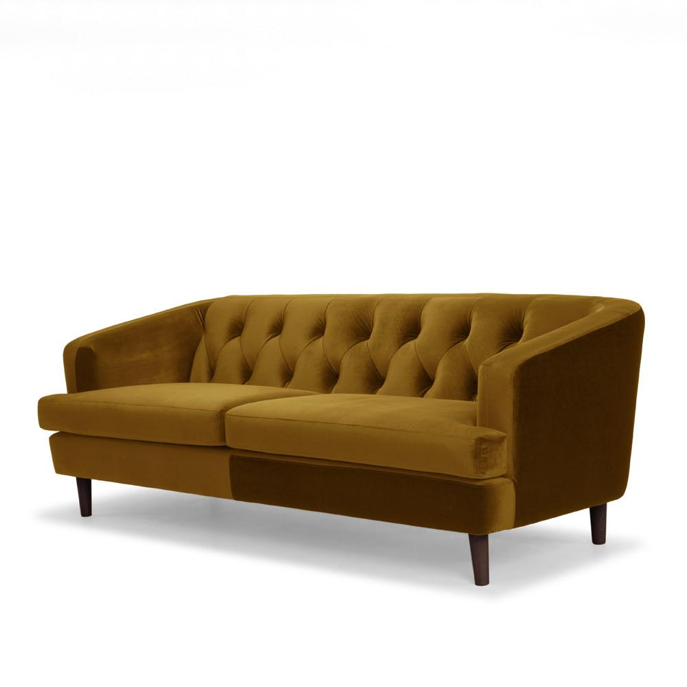 Me & My Trend | Baxter 3 Seater Velvet Sofa Deep Mustard | Shut the Front Door