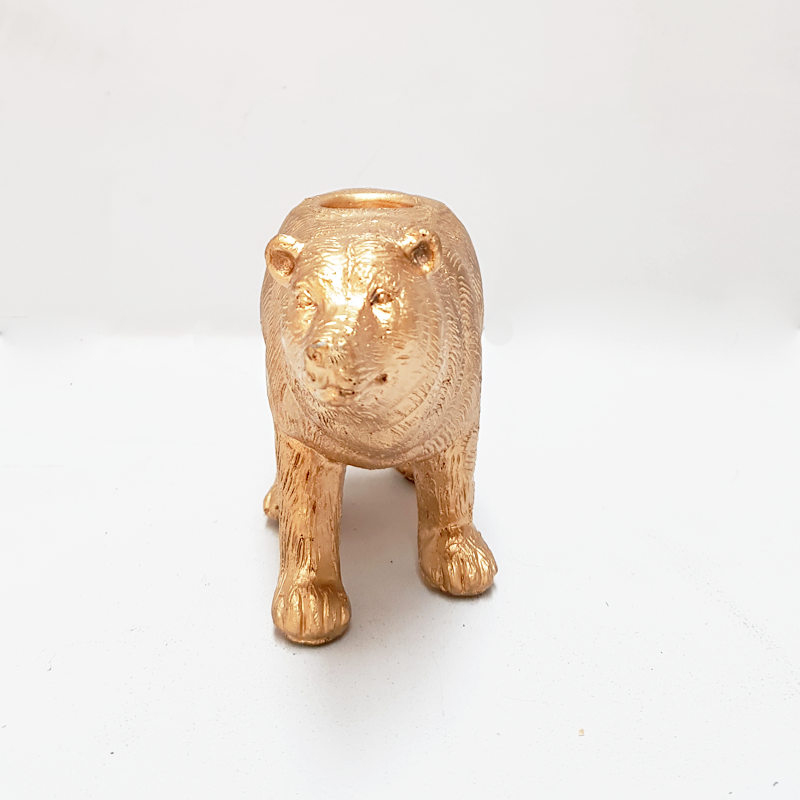 White Moose | Bear Candle Holder GOLD | Shut the Front Door