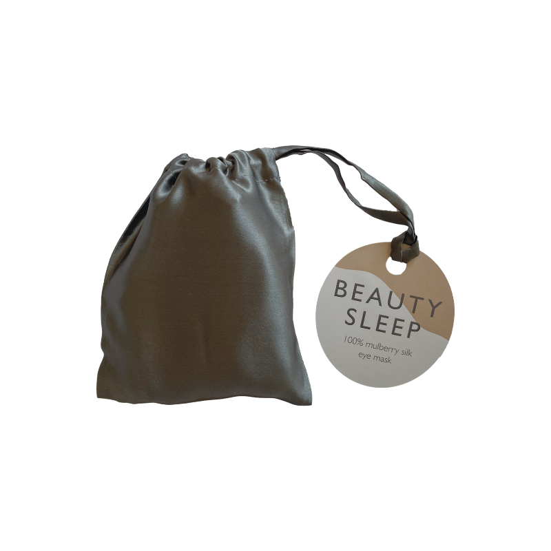 Beauty Sleep | Silk Eye Mask - Charcoal | Shut the Front Door