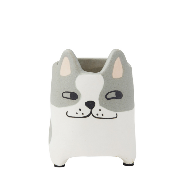 Emporium | Bently Cat Pot Grey & White | Shut the Front Door