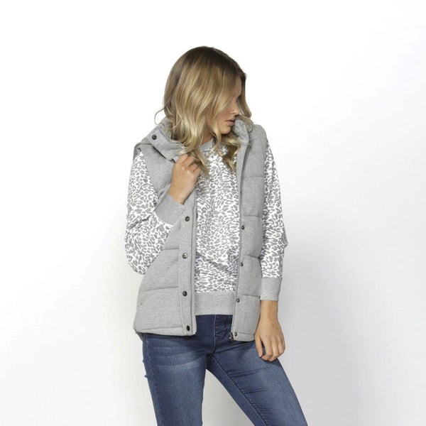 Betty Basics | Jagger Vest - Silver Grey Marle | Shut the Front Door