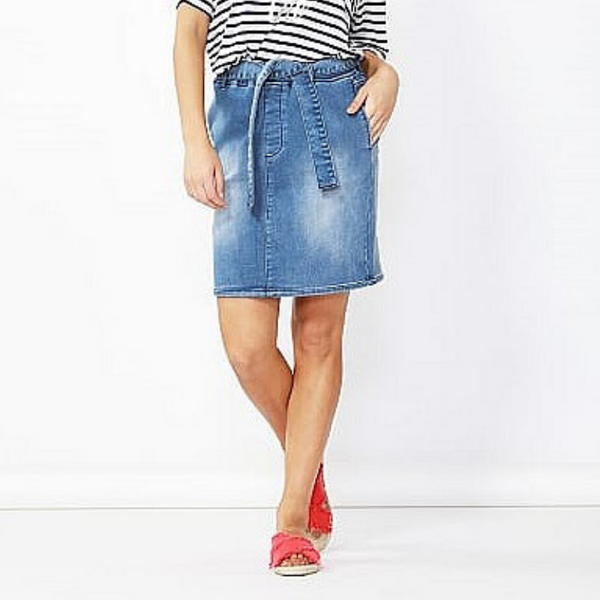 Betty Basics | Archer Stretch Denim Skirt - Indigo | Shut the Front Door