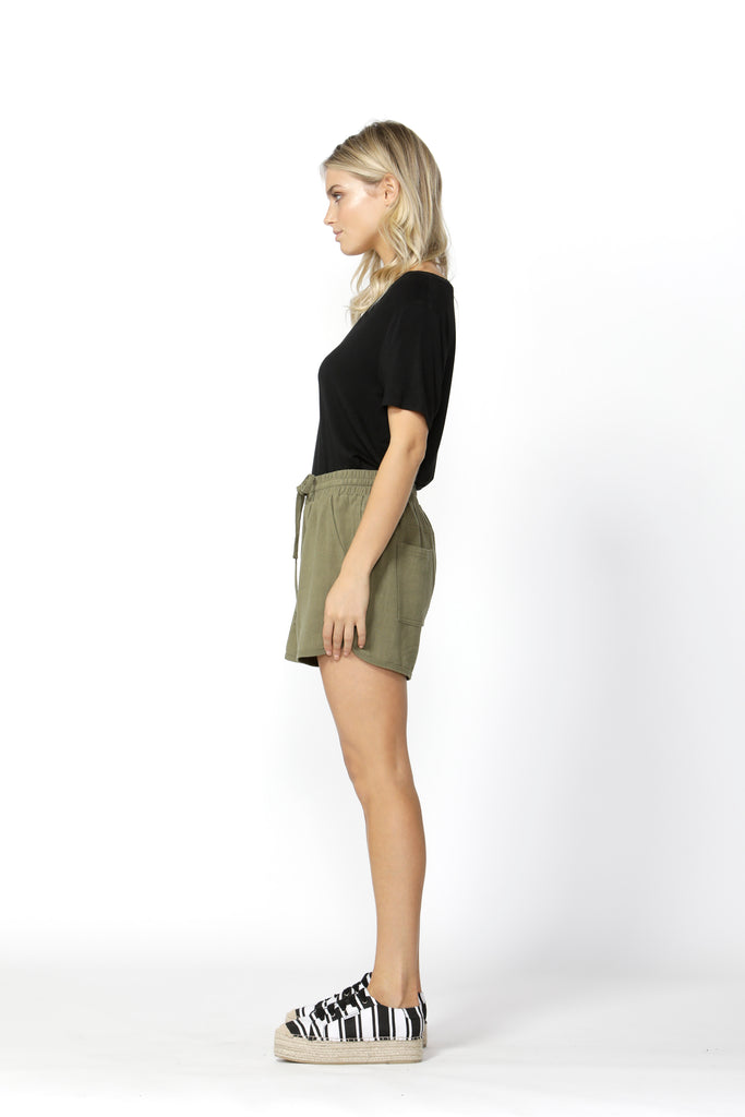 Betty Basics | Charlie Short - Khaki | Shut the Front Door