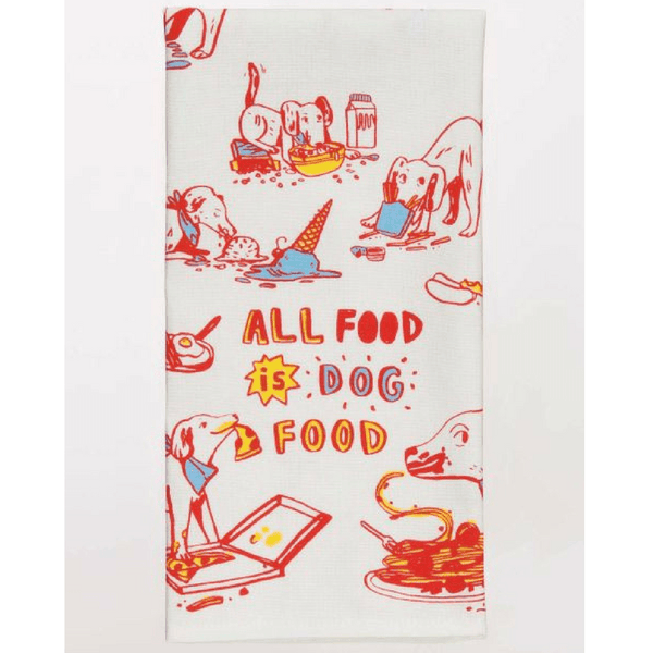Blue Q | Tea Towel - All Food is Dog Food | Shut the Front Door